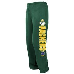 Green Bay Packers Victory VI Fleece Pants - Green  (Nice and Cozy for fall) @Fanatics ® #FanaticsWishList