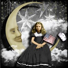 Patriotic Paper Moon by glitterbug