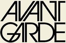 herb lubalin avant garde - Google Search; maybe not connected font, london is a very disconnected place.