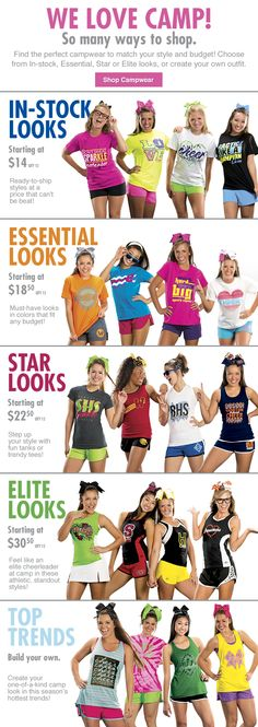 We Love Camp! We have a variety of looks for your team to stand out at camp! Check it out at www.gtmsportswear.com