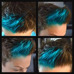 I dyed my brother's hair blue again! :D If you want to know how just ask :)  -Short Dyed Blue Guys Hair-  ~Olivia