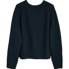 NUÉ NOTES Boatneck Wool Sweater Navy ($89) ❤ liked on Polyvore featuring tops, sweaters, shirts, outerwear, boat neck shirt, boatneck top, navy blue sweater, boat neck sweater and blue shirt