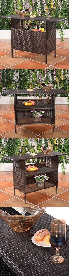 Tables 112590 Outdoor Patio Coffee Table All Weather Rattan Garden