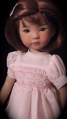 "Smocked Pearl Accent Pink Dress Fits Dianna Effner 13"" Little Darling | eBay"