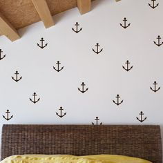 navy blue anchors for noahs room- or white with a colored wall