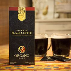 4 Boxes Organo Gold Gourmet Cafe Noir Black Coffee 100 Certified Ganoderma Extract Sealed 1 Box of 30 Sachets *** See this great product. Coffee Latte, My Coffee, Coffee Drinks, Coffee Beans, Coffee Cups, Coffee Time, Chemex Coffee, Coffee Maker, Black Coffee