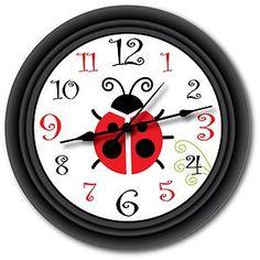 Ladybug Wall Clock Bathroom Kitchen Great Gift
