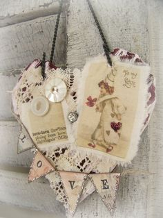 I think the girls could make something like this with scraps of stuff we have...