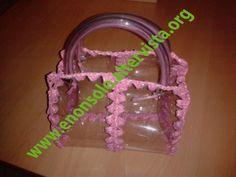 Plastica trasparente - filo rosa