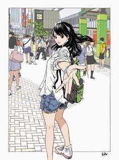 江口寿史(Hisashi+Eguchi)-www.kaifineart.com-4.jpg 1.189×1.600 pixels