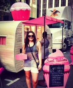 """Karly's Sunday Style:  August 11, 2013. """"Visited Sweet Traditions by LeAne at the Downtown Raleigh Food Truck Rodeo! Can't wait to have the cupcake truck at our 1st Birthday Party on August 24th!!"""""""