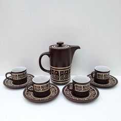 Mid Century Modern Stoneware Coffee Set  Retro Cool by modeak, $35.00