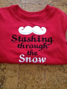 Christmas Santa mustache shirt great for the by SawyersCloset, $15.00