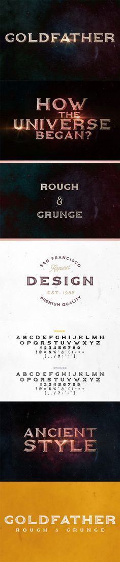 Goldfather Typeface - Gothic Decorative