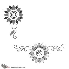 Tatuaggio di Girasole, Orgoglio, allegria tattoo - custom tattoo designs on TattooTribes.com
