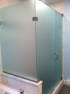 Furniture Bathroom. Cool Frosted Glass Shower Doors. Custom Frameless Glass Corner Shower Enclosure With Frosted Glass. Frosted Glass Shower Doors