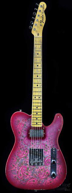 Fender Masterbuilt Jason Smith 1968 Pink Paisley Telecaster - Wild West Guitars