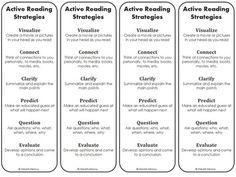 Reading Strategy Bookmarks - Free by iHeartLiteracy   Teachers Pay Teachers