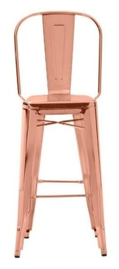 elio bar chair rose gold zuo modern 298 dominocom