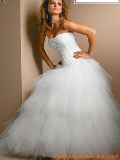Robe de mariée bustier princesse tulle