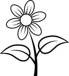 fleur à colorier  | ... La nature Les fleurs Coloriage à imprimer : une fleur simple
