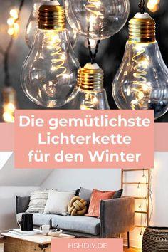 Große Lichterketten sind etwas für den ganzen Winter, denn sie sorgen mit ihrem gemütlichem Schein für eine warme Atmosphäre. Besonders schön für kalte Wintertage!