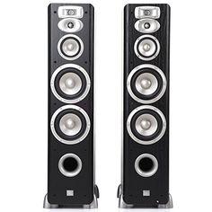 JBL L880.  Top 10 Best Floorstanding Speakers in 2015 Reviews - buythebest10 Water Speakers, Best Speakers, Stereo Speakers, Best Floor Standing Speakers, Loudspeaker, Audio, Good Things, Black