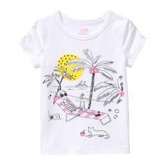 Toddler Girls' Embellished Short Sleeve Tee