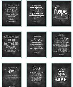 Free printable chalkboard verses!