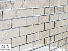 Silver Antiqued mirrored mirror wall tiles suitable bathroom, bedroom, kitchen   eBay