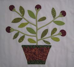 TatteredGarden Quilting: Beyond The Cherry Trees Patchwork Designs, Cherry Tree, Applique Quilts, Needle And Thread, Fun Projects, Machine Embroidery, Primitive, Planter Pots, Berries