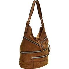 Dasein Gold-Tone Quilted Hobo with Front Zipper Decoration - Black -... ($43) ❤ liked on Polyvore featuring bags, handbags, shoulder bags, black, cell phone shoulder bag, zipper shoulder bag, cell phone purse, pocket purse and shoulder strap purses