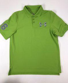 Boy's Green UNDER ARMOUR Loose Heat Gear Polo SHIRT Boy's Youth XL #UnderArmour #Everyday $9.99