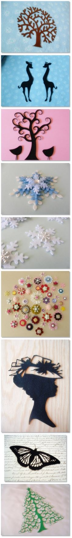 Felt Cutting Art - Includes Snowflakes / Flowers    (03.05.15)