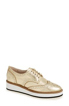 Shellys London 'Emma' Platform Oxford (Women) available at Platform Wedges Shoes, Wedge Shoes, Oxford Sneakers, Oxford Shoes, Men's Sneakers, Wingtip Shoes, Oxfords, Oxford Platform, Womens Flats