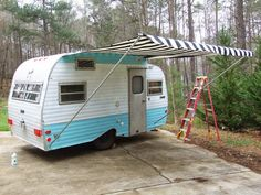 Jennifer Jangles Blog: Sewing an Awning, Cushions, and Curtains for the Camper, It's Glamping Week!