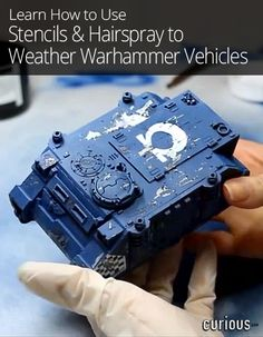 Stencil & Hairspray Techniques for Warhammer Vehicles