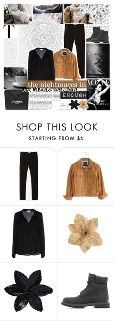 """""""// DON'T WAKE US UP, WE'D RATHER JUST KEEP DREAMING //"""" by four-am ❤ liked on Polyvore featuring STELLA McCARTNEY, Zara, Madewell, Milly, Chanel, Clips, ASOS, Timberland, women's clothing and women"""