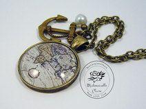 Kette - Atlas I - antik Bronze Bronze, Pocket Watch, Claire, Cufflinks, Watches, Etsy, Vintage, Accessories, Antique Jewelry