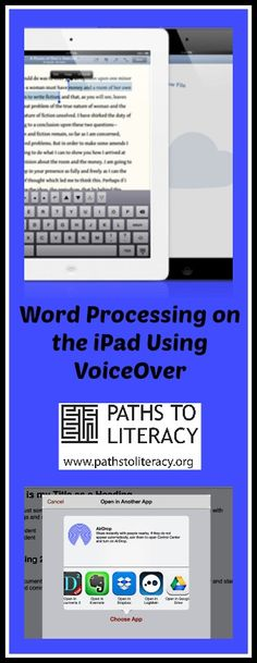 Tips on teaching word processing on the iPad using VoiceOver