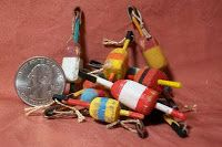 Super easy miniature buoys to place in the dollhouse boat shed or miniature rowboat - source: marquis miniatures