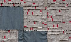 "Albuquerque Foreclosure Quilt, (detail) 2011. 35"" x 47"" Linen, wool, yarn and embroidery thread by kikiclark, via Flickr"