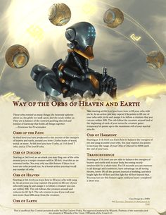Way of the Orbs and Heaven and Earth Dungeons And Dragons Races, Dungeons And Dragons Classes, Dungeons And Dragons Homebrew, Dnd 5e Monk, D D Races, Dnd Classes, Dungeon Master's Guide, Dnd Funny, Dnd 5e Homebrew