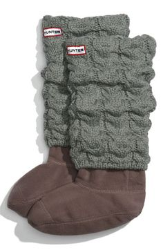 Hunter Chunky Cable Socks. I need these for when I cant decide between rain boots and Uggs.