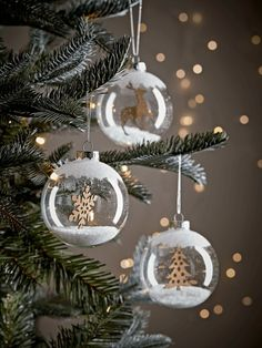 All Christmas Tree Decorations - Christmas Decorations Easy Christmas Crafts, Diy Christmas Ornaments, Simple Christmas, Handmade Christmas, Christmas Gifts, Clear Ornaments, Christmas Snowman, Christmas Wreaths, Large Christmas Baubles