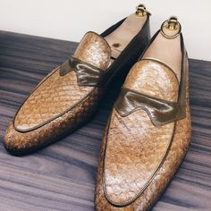 Mason and Smith — Freshwater perch loafers by Stefano Bemer...