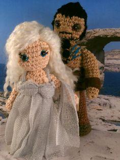 Khal Drogo and Daenerys wedding. Game of thrones amigurumi. Moñacos, cosicas y meriendacenas