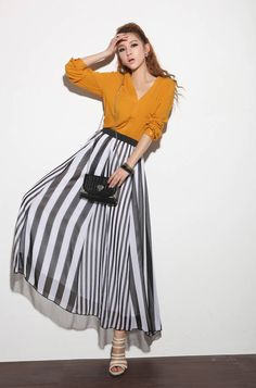 Fashion Summer Striped Large Circle Casual Skirt Beach Maxi Long Beach Party Dress Free shipping-in Apparel & Accessories on Aliexpress.com