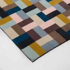 Pojagi Runner image Hand Knotted Rugs, Rug Runner, Colours, Interiors, Wool, Image, Design, Carpet Runner