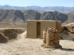 A view of Nisa, an ancient parthian capital and a UNESCO World Heritage Site under the name 'Parthian Fortresses of Nisa', now located near Ashgabat in Turkmenistan
